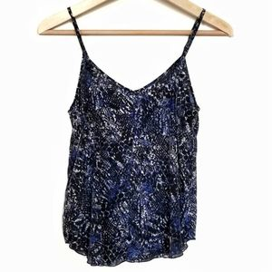 Wilfred Silk Camisole Blue Snake Print Size XS